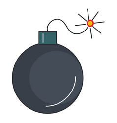 explosive bomb isolated icon vector image