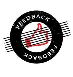 Feedback rubber stamp vector