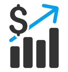 Financial Chart Flat Icon vector image