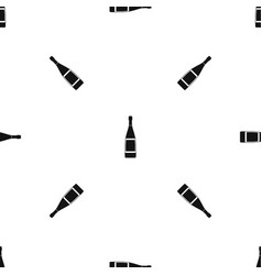 glass bottle pattern seamless black vector image vector image