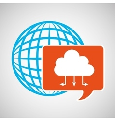 global web network cloud icon vector image