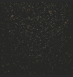 gold dust glitter texture on dark transparent vector image