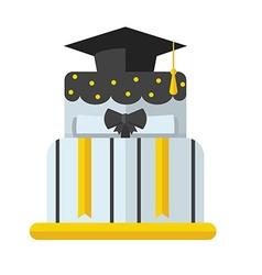 Graduation Cake Flat Icon vector image vector image
