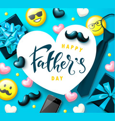 Greeting card for father s day decorative vector