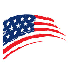Grunge flag united states america vector