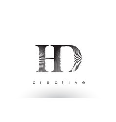 Hd logo design with multiple lines and black and vector