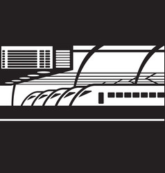 high speed trains on platform at railway station vector image