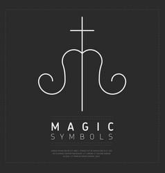 iconic magic symbol on gray vector image