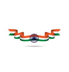 India ribbon flag template design vector