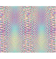 Iridescent snake skin pattern vector