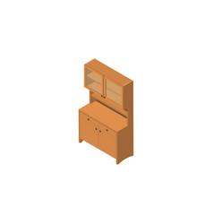 isolated wardrobe isometric cupboard vector image