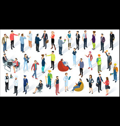 isometric 3d flat design people vector image