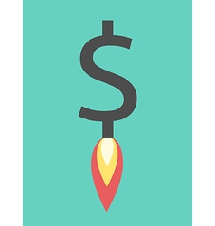 Jet rocket dollar rising vector