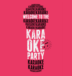 Karaoke party typographic vintage grunge poster vector