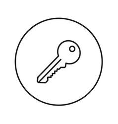 Key icon line vector