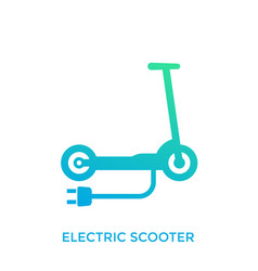 Kick scooter electric transport icon on white vector