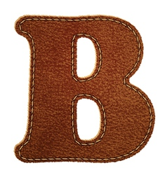Leather textured letter B vector