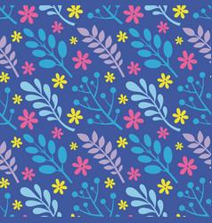 Leaves flowers berries plants - creative vector