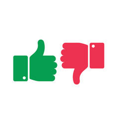 like unlike buttons thumbs up and down isolated vector image