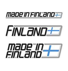 Made in finland vector