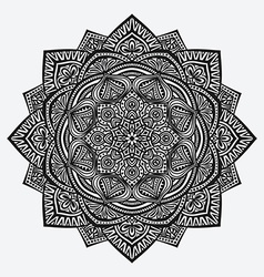Mandala ornament circular monochrome pattern vector