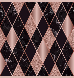 Marble luxury geometric seamless pattern vector