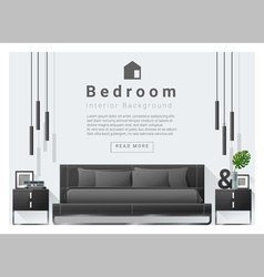 Modern bedroom background Interior design 6 vector image