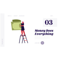 Money revenue and investment website landing page vector