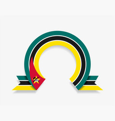 mozambique flag rounded abstract background vector image