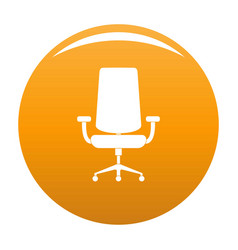 New armchair icon orange vector