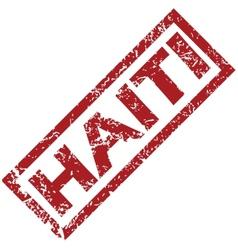 New Haiti rubber stamp vector image