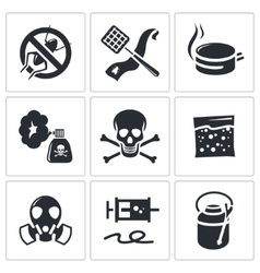 No insects icon set vector