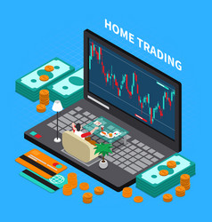 online trading stock exchange composition vector image
