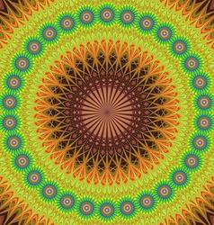 Oriental style floral mandala design background vector