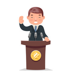 Politician tribune performance businessman vector