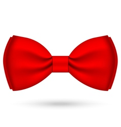 Red bow-tie vector