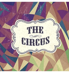 retro circus background vector image