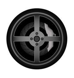 Road car rim icon vector