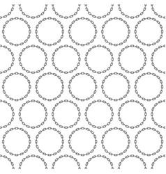 Round chain background vector