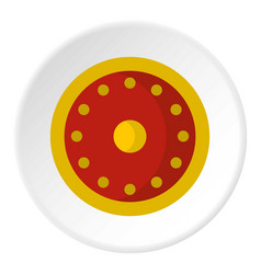 Round military shield icon circle vector