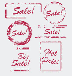 sale stamp set hot price badge vector image