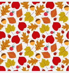 seamless pattern leaves background vector image