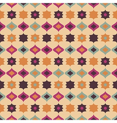 Seamless retro pattern geometrical texture vector
