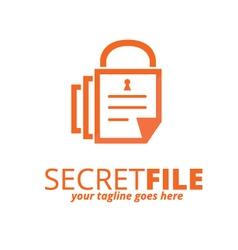 Secret file logo vector