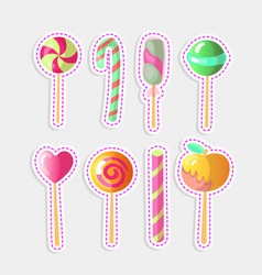 set of bright candies of colorful vector image