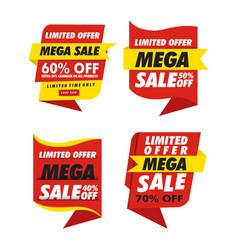 sets banner sale simple vector image
