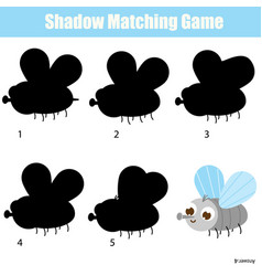 Shadow matching game for children find right vector
