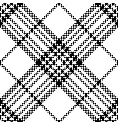 Simple pixel check black white seamless pattern vector