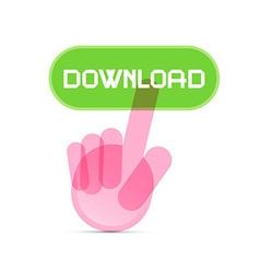 Social Media Symbol - Hand Icon Pushing vector