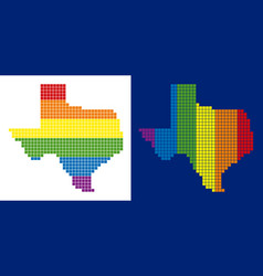 spectrum pixel dotted texas map vector image